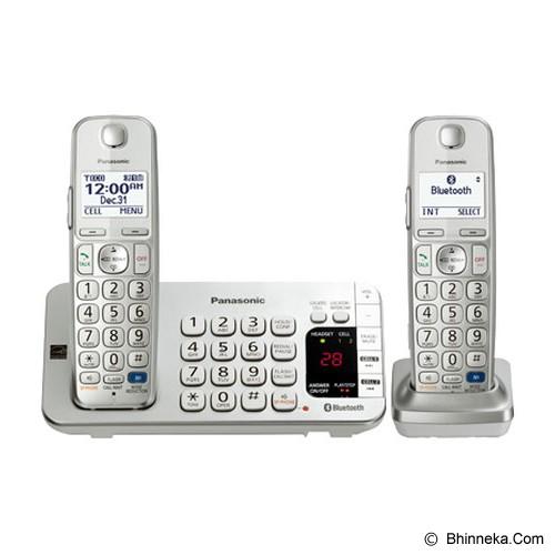 PANASONIC Cordless Phone [KX-TGE272] - Silver - Wireless Phone